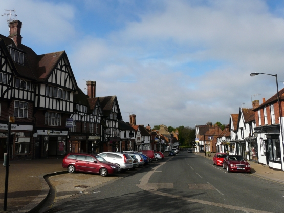 Looking down Pinner's High Street 2013