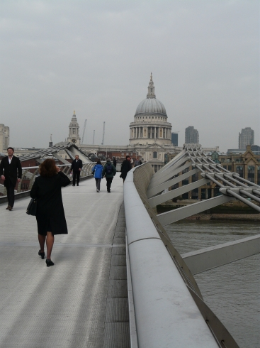 St Paul's Cathedral from London's Millennium Bridge