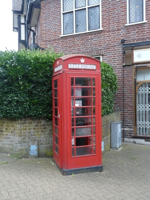 Pinner's very own Grade II listed Red Telephone Box at the top of the High Street.